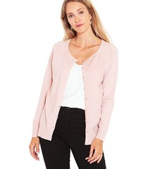 sweater wados botones rosa - calce regular