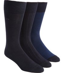 men's calvin klein 3-pack crew socks, size one size - blue