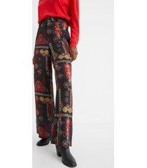 wide trousers ethnic friezes - black - 44