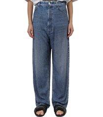 balenciaga blue trompe loeil trousers