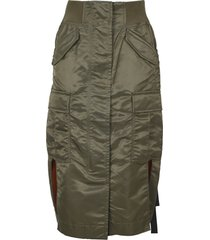 sacai high waisted nylon skirt