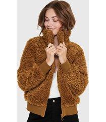 chaqueta only marrón - calce regular