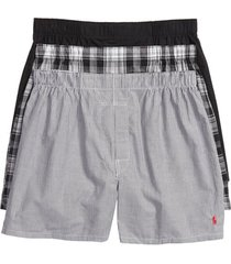 polo ralph lauren 3-pack cotton boxers, size small in bs/sp/pbd at nordstrom