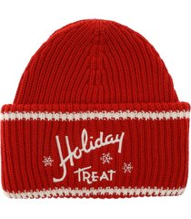 philosophy - holiday treat embroidery beanie