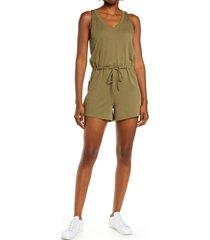 women's madewell mwl breeze drawstring romper, size x-large - green