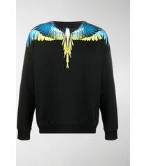 marcelo burlon county of milan feather-print crew-neck sweatshirt