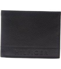 tommy hilfiger men's rfid pebbled leather wallet
