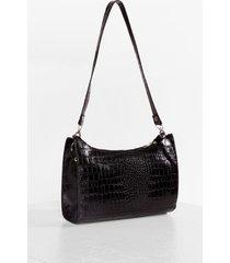womens want beat the croc shoulder bag - black