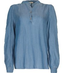 denim blouse alexia  blauw