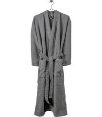 slow bath robe morgonrock badrock grå compliments