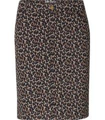 gonna elasticizzata leopardata (verde) - john baner jeanswear