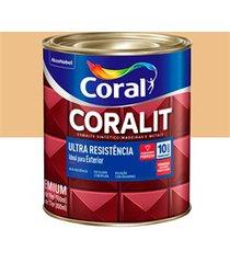 tinta esmalte sintético premium brilhante coralit tradicional creme 900ml