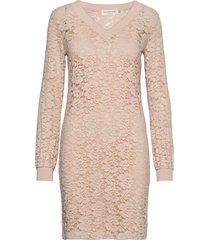 dress ls kort klänning rosa rosemunde