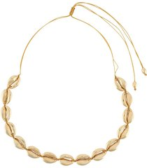tohum beach shell necklace - gold