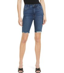 women's good american good bermuda denim shorts, size 00 - blue