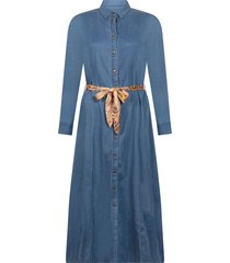 tramontana dress mid blue denim