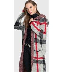 abrigo privilege tejido multicolor - calce holgado