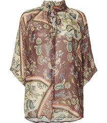 lupana print blouse top voile