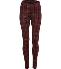 leggings a quadri (rosso) - bodyflirt