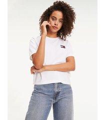 t-shirt manga corta blanco tommy jeans