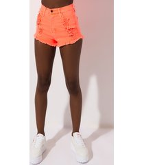 akira shredded high waist shorts