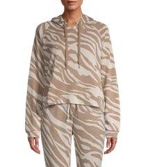 bb dakota women's nature of love hoodie - ivory - size xs