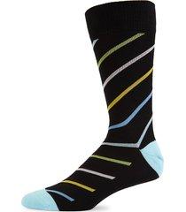 paul smith men's multicolored striped crew socks - blue