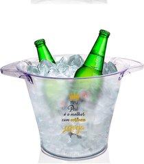 balde de gelo personalizado para dia dos pais com cerveja