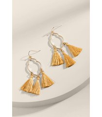 cara marquis tassel earrings - mustard
