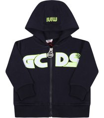 gcds mini black sweatshirt for babykids with logos