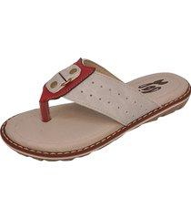 sandália infantil raniel calçados papete chinelo dedo gelo/vermelho