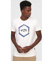 camiseta billabong access iv off-white - off white - masculino - dafiti