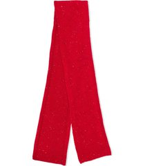 bonpoint chunky knit scarf - red