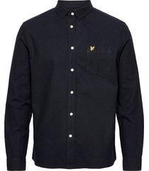 brushed twill shirt overhemd casual blauw lyle & scott
