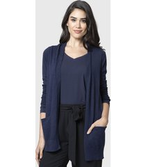 cardigan nautica azul - calce regular