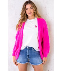 oversized knitted vest neon pink