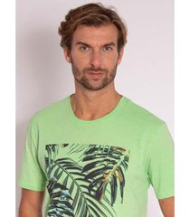 camiseta aleatory estampada tropical - masculina - masculino