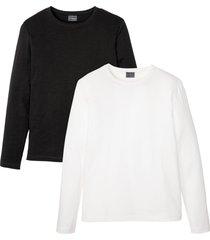 maglia a maniche lunghe (pacco da 2) slim fit (nero) - rainbow