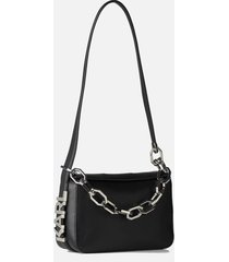 karl lagerfeld women's arkade k/letters sm shoulder bag - black