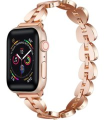 unisex sleek metal link apple watch replacement band, 42mm