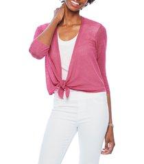 women's nic+zoe 4-way convertible three quarter sleeve cardigan, size xx-large - pink
