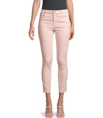 j brand women's alana high-rise cropped skinny jeans - pink - size 26 (2-4)