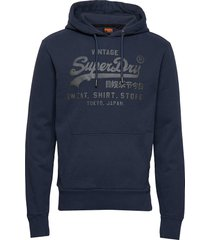 vl shirt shop bonded hood br hoodie trui blauw superdry