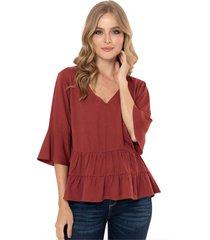 blusa maloka rojo ragged pf11112185