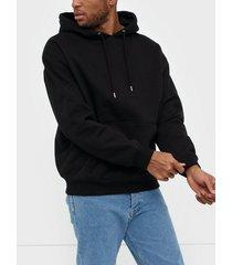 dr denim damien hoodie tröjor black