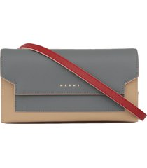 marni saffiano leather wallet with logo