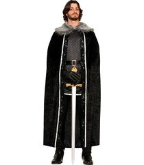 forum novelties men's medieval fantasy faux fur trimmed cape men