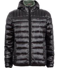 parka tommy hilfiger negro - calce regular