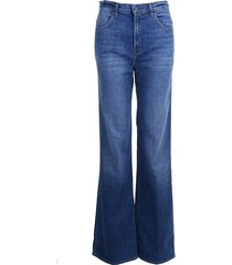 jbrand jeans joan high rise wide leg striker blauw