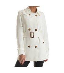 trench coat rigotto new york off white
